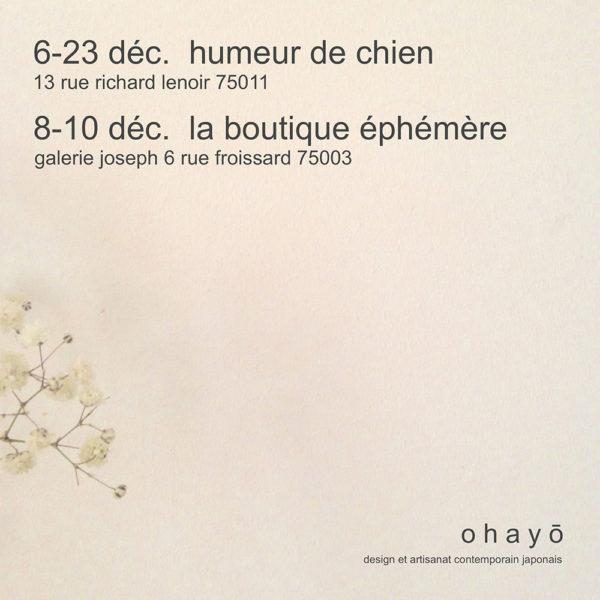 Double Xmas pop-up store Ohayō chez Humeur de chien, Paris